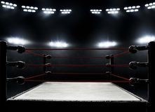 View of professional boxing rings. View of professional boxing ring stock photography