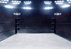 View of professional boxing rings royalty free stock photography