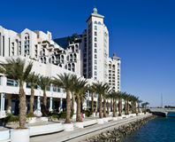 View on promenade and hotels in Eilat, Israel Stock Photo