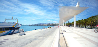 View of the promenade of Málaga. Stock Photography