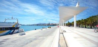 View of the promenade of Málaga. Stock Photography