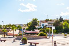 View of the promenade in the seaside town, in the middle of the Stock Photography