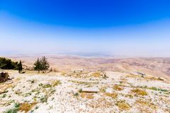 View of the `promised land`. From Mount Nebo in Jordan, Middle East Stock Photo