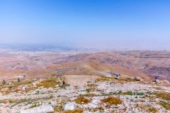 View of the ` promised land` from Mount Nebo. Jordan Royalty Free Stock Images