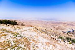 View of the ` promised land` from Mount Nebo. Jordan Stock Photography
