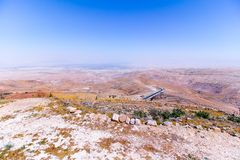 View of the ` promised land` from Mount Nebo. Jordan Stock Photo
