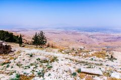 View of the ` promised land` from Mount Nebo. Jordan Royalty Free Stock Photography