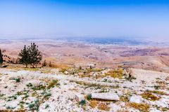 View of the ` promised land` from Mount Nebo. Jordan Royalty Free Stock Image