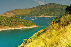 View of a Promthep cape. Phuket island Stock Images
