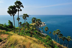 View of a Promthep cape. Phuket Royalty Free Stock Photo