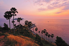 View of a Promthep cape. Phuket island Royalty Free Stock Photography