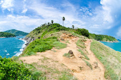 View of a Promthep cape in sunny day. Stock Photography