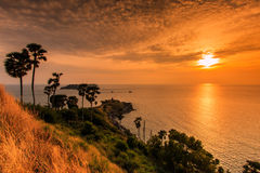 View Of A Promthep Cape In The Sunset, Thailand Royalty ...