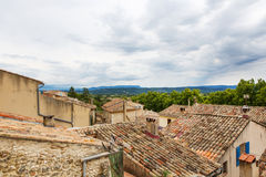 View on Provence village roof and landscape. Royalty Free Stock Images