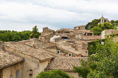 View on Provence village roof and landscape. Royalty Free Stock Photos