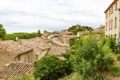 View on Provence village roof and landscape. Royalty Free Stock Image