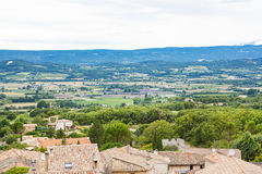 View on Provence village roof and landscape. Stock Images
