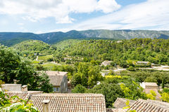 View on Provence village roof and landscape. Stock Image