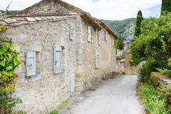 View on Provence village roof and landscape. Stock Photos