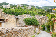 View on Provence village roof and landscape. Royalty Free Stock Photo