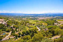 View on Provence village roof and landscape. Royalty Free Stock Photography