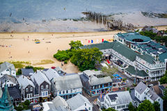 View of Provincetown from the Pilgrim's Monument, in Provincetow stock photos
