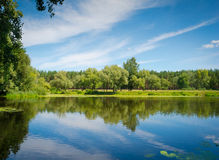 View of Psel River Royalty Free Stock Images