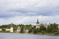 A view of the Pskov Kremlin Stock Image