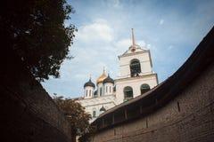 View of Pskov Kremlin. Pskov Krom, an ancient citadel in Pskov Oblast, Russia Stock Image