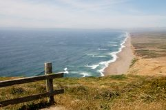 View of Pt. Reyes sea shore, Northern California Royalty Free Stock Photography