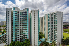 View of Public Housing Estate in Singapore. Frontal View of Eunos Estate in Singapore Royalty Free Stock Images