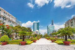View from public park on Bitexco Financial Tower Royalty Free Stock Photo