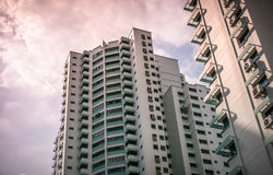 View of public residential housing apartment in Bukit Panjang. Royalty Free Stock Images