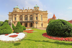 View of the public theatre in Krakow / Poland Royalty Free Stock Image