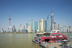 View of pudong in shanghai china Royalty Free Stock Image