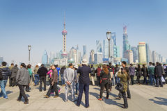 View of pudong in shanghai china Stock Photo