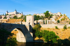 View of Puente of Alcantara from East Royalty Free Stock Photography