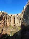 View of Puente Nuevo de Ronda from the City Valley. Puente Nuevo or the New Bridge in Ronda, Spain Royalty Free Stock Images