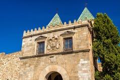 View of Puerta de Bisagra Nueva Gate in Toledo, Spain. View of Puerta de Bisagra Nueva Gate in Toledo - Spain Royalty Free Stock Image