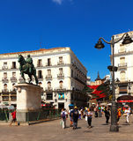 View of Puerta del Sol.  Madrid, Spain Royalty Free Stock Photo