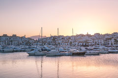 View of Puerto Banus, Spain Royalty Free Stock Photos