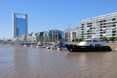 View of Puerto Madero. Royalty Free Stock Photography