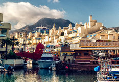 View of Puerto Marina Royalty Free Stock Photo