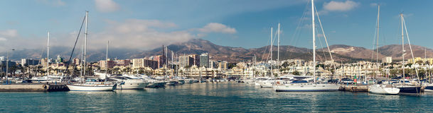 View of Puerto Marina Stock Images