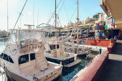 View of Puerto Marina Royalty Free Stock Photography