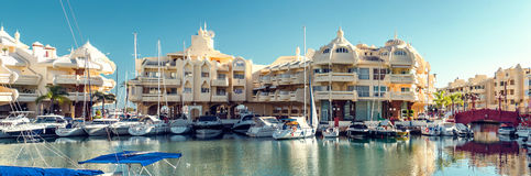 View of Puerto Marina Stock Photo
