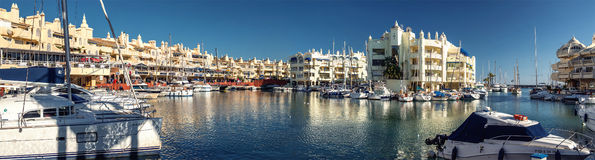 View of Puerto Marina Royalty Free Stock Images