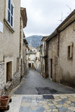 View of Puerto Pollensa in the Balearic Islands, Spain, old stone streets and traditional architecture royalty free stock image