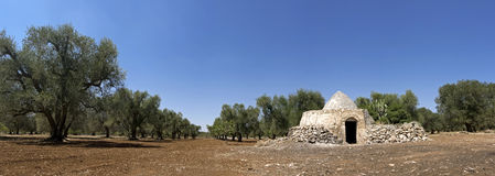 View of puglia - trullo Royalty Free Stock Images