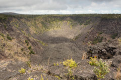 View of the Puhimau Crater Royalty Free Stock Images